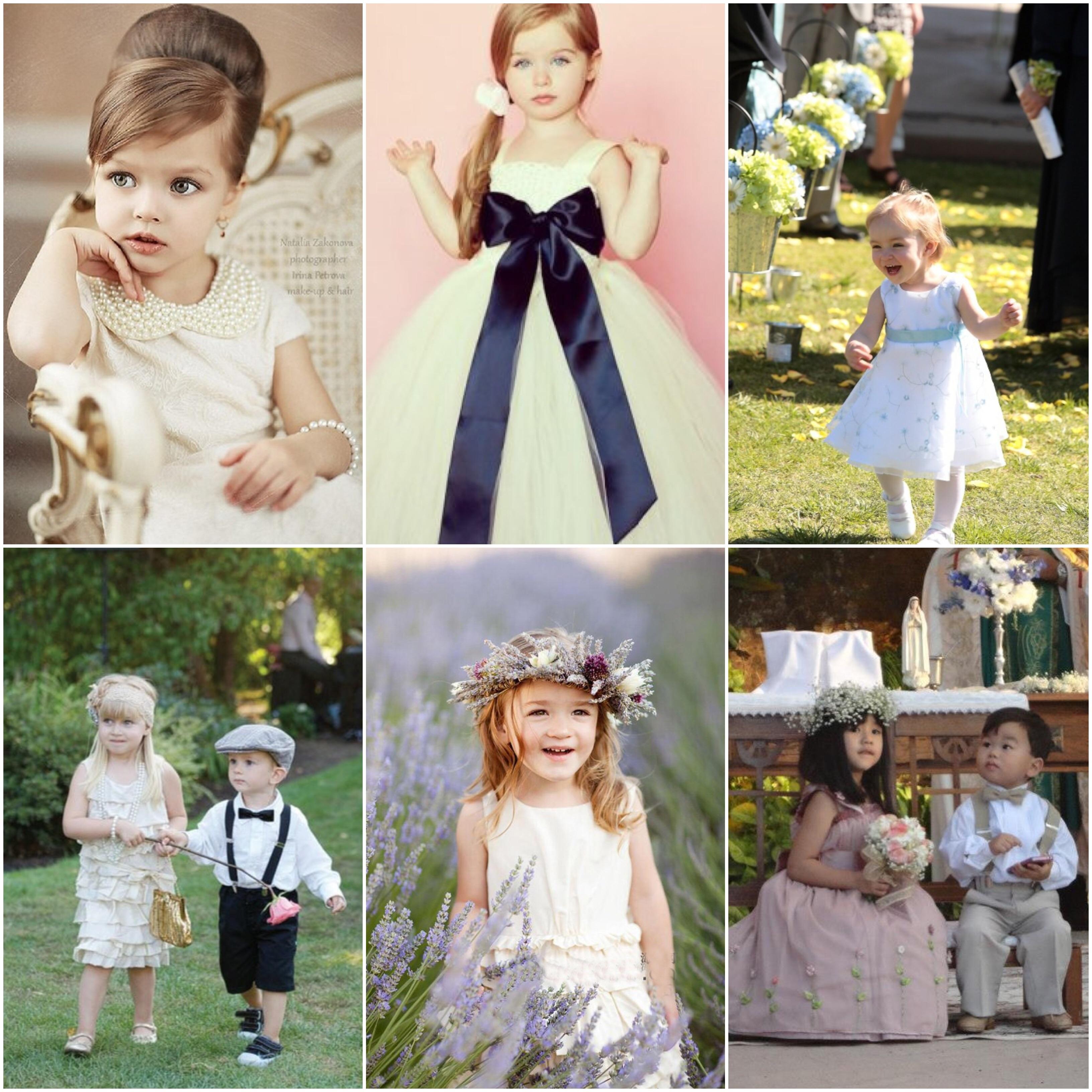 Ideias para daminhas e pajens  como envolvê-los no casamento 724c41887a4