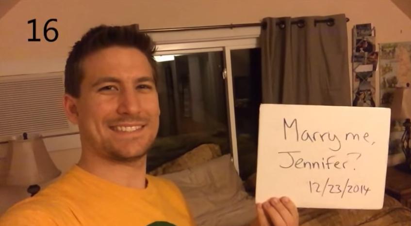Um Agradecimento Por Cada Dia: Um Pedido De Casamento A Cada Dia!