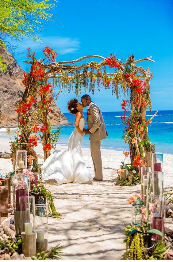ensaios de casamento na praia